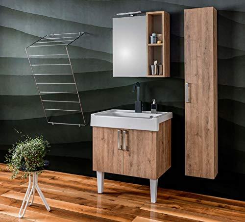 Dafnedesign.com - mobile da bagno effetto legno (cm. l75xp50xh62)