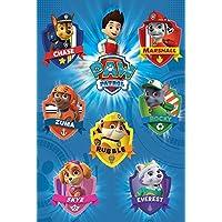 Pyramid International Crests Paw Patrol Maxi Poster, Multi-Colour, 61 x 91.5 x 1.3 cm
