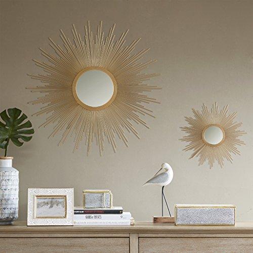 Madison Park Fiore Sunburst Spiegel, groß, goldfarben -