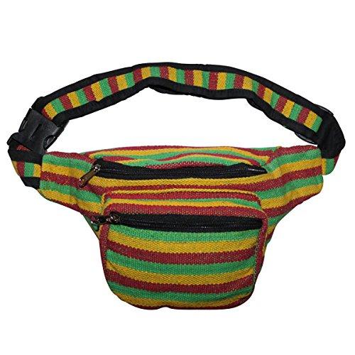 Freak Scene® Tasche ° Gürteltasche ° Bob ° gestreift ° Bauchtasche ° Hüfttasche, alle Farben!!! rot-gelb-grün