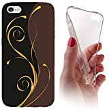 Samsung S3 / S3 Neo Softcase Hülle Cover Backkover Softcase TPU Hülle Slim Case für Samsung Galaxy S3 / S3 neo (1074 Abstract Schwarz Braun Gold)