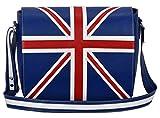 Leder Cross Body Unisex Tasche Union Jack Blau Laptop, Schulranzen, Messenger Bag 2760