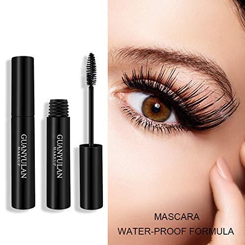 Allbesta Mascara en fibre de soie 4D pour extension de cils dense maquillage bouclé noir boucl