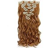 """Neverland Beauty 22"""" (55 cm) extensiones de cabello cabeza completa clip en extensiones de pelo 7 piezas Ondulado with 16 clips #27"""