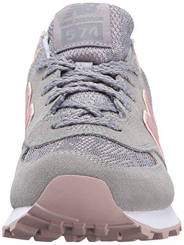 New Balance Women's WL574 Nouveau Lace Pack Running Shoe Steel/Charm
