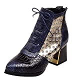 Styledress Damen Stiefel mit Absatz Damen Stiefeletten High Heels Kurze Stiefel Fransen Warm Schuhe Boots Winterschuhe Schneestiefel Martin Stiefel Herbst Winter