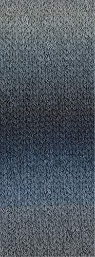 Lana Grossa - Cashmere 16 Fine Degradé - 112 aubergine/Schwarzblau/Pflaume 50 g 16 Aubergine