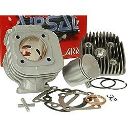 Kit cylindre AIRSAL 70cc Sport en aluminium pour Aprilia, Amico AC (1991-1992), (à partir de 1993), GL, Sport, SR 50(jusqu'à 1994), MBK, Booster, Slider, Yamaha BWs, Stunt, Target, Zuma