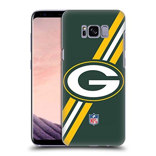 Head Case Designs Offizielle NFL Streifen Green Bay Packers Logo Harte Rueckseiten Huelle kompatibel mit Samsung Galaxy S8