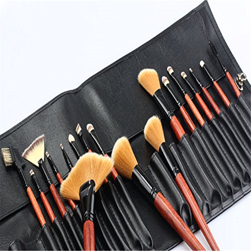 RoseFlower® Professionnel 18 Pcs Pinceaux Maquillage Trousse - Pro Make Up Cosmétique Brosse / Brushes Kit Pour Visage Blending Fondation Blush Eyeliner Poudre