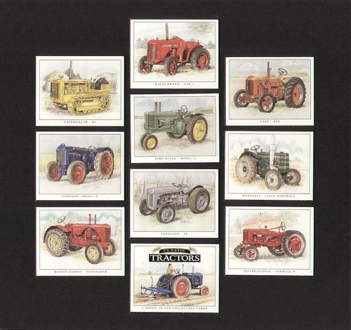 Classic Traktoren – Fordson, David Braun, Fall, Caterpillar, John Deere, Marshall, Ferguson, international, massey-harris – Sammler Karten