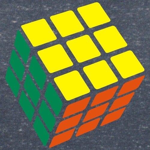 Rubik's Cube Original Classique Résolu T-shirt col V Femme de Spreadshirt® marine chiné