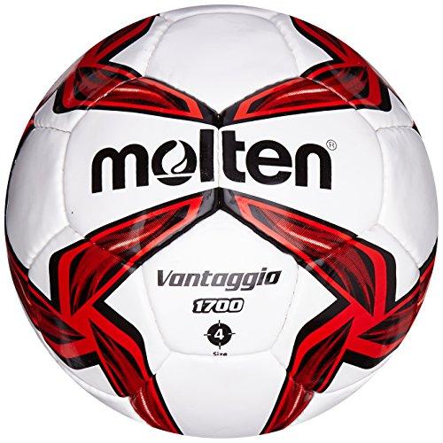 Molten Trainingsball 1700 Series Fussball, Rot/Weiß, 4 Stück -