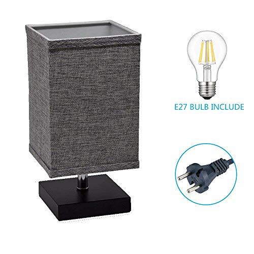 LED Tischlampe E27, Nachttischlampe Kinderzimmer, Leselampe Bett Warmweiß, Modern Stehlampe am...