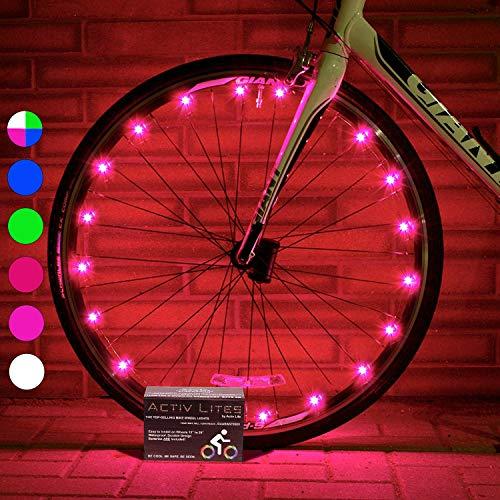 Luces LED Activ Life para bicis (Set de 2 Rosa). Regalo de cumpleaños más Popular para niñas de 3+, Adolescentes y Mujeres. Regalo Original de San Valentín para su Mujer, Madre, Amiga, Hermana.