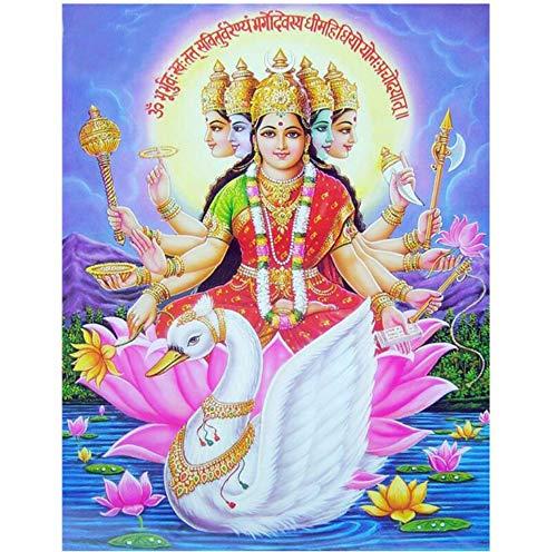 Your boy-HT DIY 5d Diamant Stickerei mosaik Hindu Diamant malerei kreuzstich Vishnu indischen Religion und Schwan handarbeiten Home dekorative 40x50cm (Nähen Islamische Muster)