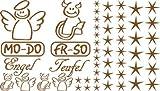 Autoaufkleber Sticker Aufkleber Set für Auto Schriftzug Engel Mo-Do Fr-So Teufe (801 lehmbraun)