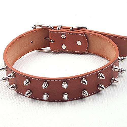 ZYTDE Haustier Hundegeschirr Leine Sharp Spike Studded Leder Hundehalsbänder Pu Für kleine, mittelgroße Hunde Hundehalsband Nieten Anti-Bite Pet Products Umhängeband (Und Leine Spike Hundegeschirr)