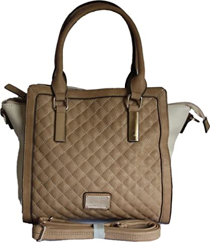 H&G Ladies Designer Two Tone Quilted Shoulder \ Tote Handbag by Max & Enjoy - Paris