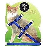 #6: The Pets Company Body Harness Set for Cats, Harness and Adjustable Nylon Leash (Indigo)