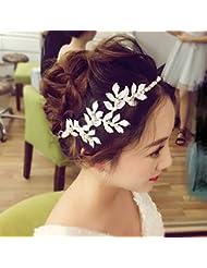 &zhou Tocado nupcial de la joyería del pelo por los accesorios 36 * 6cm del vestido de boda de la mano