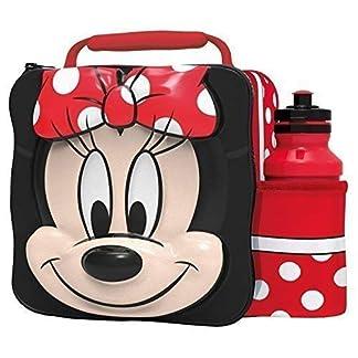 51Vu1Pe%2B8dL. SS324  - Minnie Mouse Niños Infantil 3d FIAMBRERA Mochila Deportivo Bidón