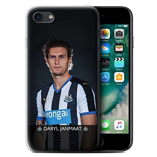 Offiziell Newcastle United FC Hülle / Gel TPU Case für Apple iPhone 7 / Wijnaldum Muster / NUFC Fussballspieler 15/16 Kollektion Janmaat