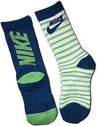 Nike - Calcetines de Rayas para niños (2 Unidades, Talla 13C-3Y/