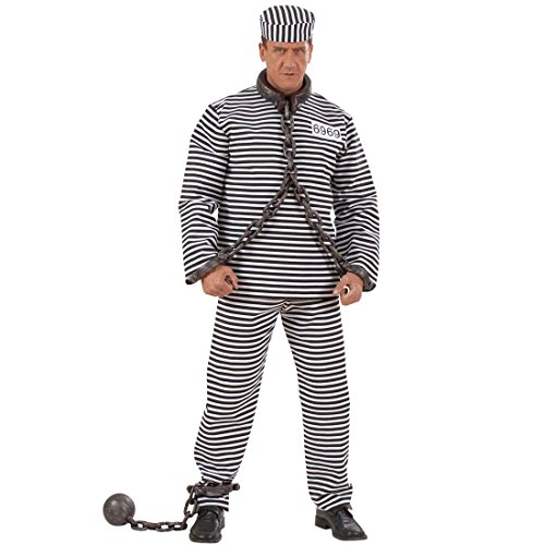 NET TOYS Sträfling Fußkette Fuß Kette grau Fußkugel Kugelkette Junggesellenabschied Kostüm Zubehör Gefangener Sträfling Kansti Insasse