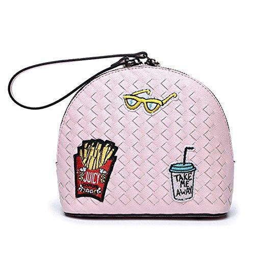 Umhängetaschen Womens Kleine Messenger Bags Cartoon Mini Crossbody Umhängetaschen Kette Body Bags,Pink-S