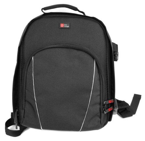 DURAGADGET Rucksack für Vivitar Camcorder/Videokameras und Zubehör - verschiedene Abteilungen - Farbe: Schwarz