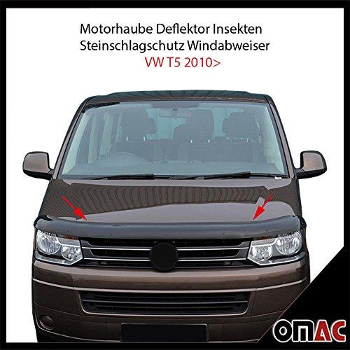 Motorhaube Deflektor Insekten und Steinschlagschutz Windabweiser VW T5 2010>