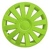 (Größe wählbar) 14 Zoll Radkappen / Radzierblenden AGAT Grün passend für fast alle Fahrzeugtypen – universal