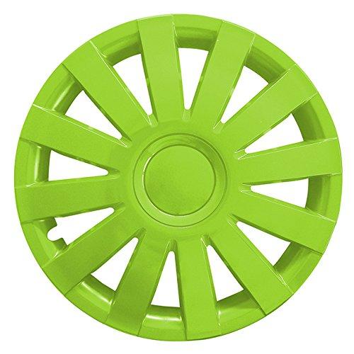 (Größe wählbar) 14 Zoll Radkappen / Radzierblenden AGAT Grün passend für fast alle Fahrzeugtypen - universal