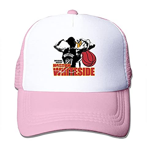 YSC-Dier Custom Personalized Snapback Miami Basketball Team 21# Hassan Player Sporting Caps Hat Black Pink