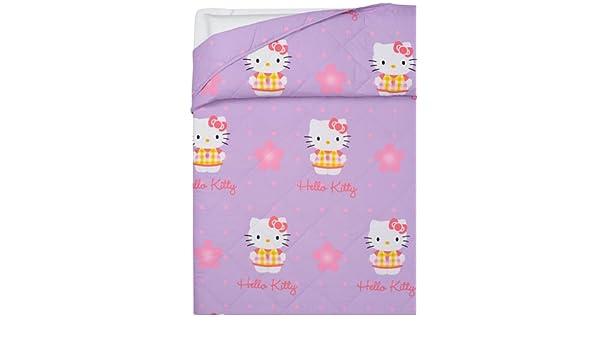 Copriletto Matrimoniale Hello Kitty.Hello Kitty Home Copriletto Imbottito 100 Gr Strawberry Matrimoniale