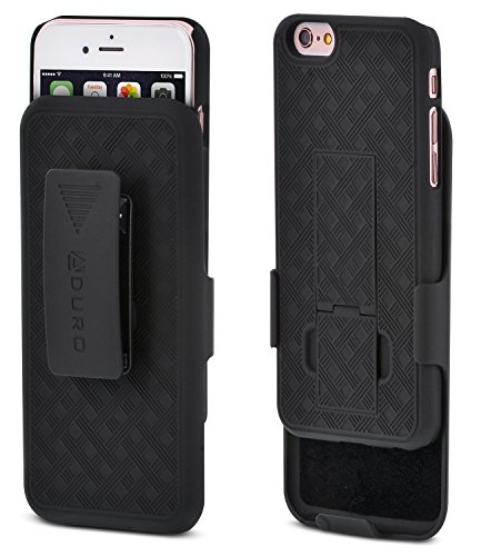 iPhone 6S/6Fall, Aduro Combo Shell & Holster Case Super Slim Shell Case w/mit integriertem Ständer + Swivel Belt Clip Holster für Apple iPhone 6S/6 (Belt Case-swivel Clip)
