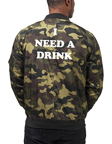 I Need A Drink Bomberjacke Camouflage Certified Freak-XXL