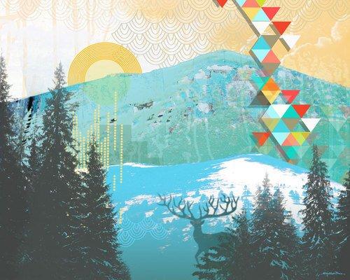 Wheatpaste Art Collective Kleister Art Poster, dass Stick Wand Aufkleber Magic wurde von Misha Dawn maynerick Blaise, 35von 71cm