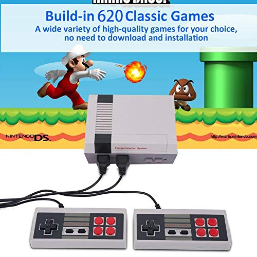 Console di gioco retrò Mini console classica TV Lettore di giochi Console di gioco per famiglie,costruito in 620 giochi,porta ricordi felici dell\'infanzia,cavo di uscita AV