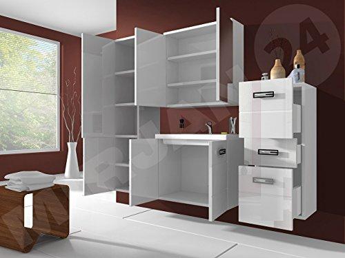 Badmöbel Set Atria mit Waschbecken und Siphon, Modernes Badezimmer ...