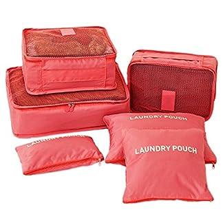 Kleidertaschen-Set-7-teilig-Reisetasche-in-Koffer-Wschebeutel-Schuhbeutel-Kosmetik-Aufbewahrungstasche-Farbwahl