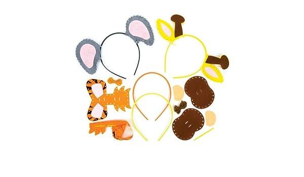 10 Animaux Beaupretty 10pcs Serre-t/ête Oreilles Animaux Dr/ôle Bandeau Oreilles Cosplay Costume Animal Cheveux Accessoires Cerceau de Cheveux pour Enfants Femmes Filles