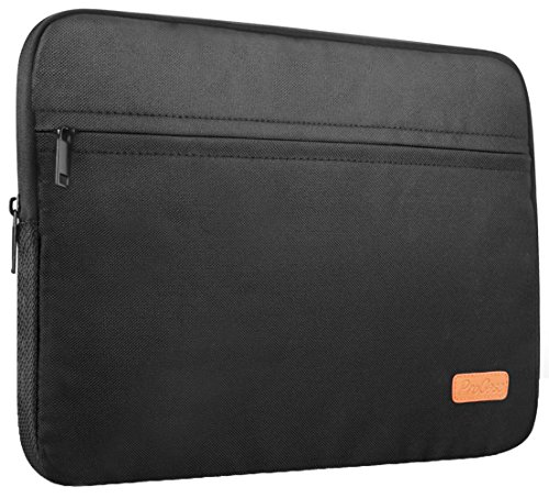 ProCase 14 - 15.6 Inch Laptop Sleeve Case Bag for 15.4-inch Apple MacBook Pro and Most 14 15 Inch Ultrabook Notebook Chromebook Macbook Pro -Black (Eco-friendly Messenger Bag)