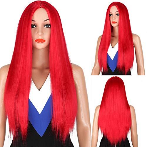 Parrucca lunga capelli lisci parrucca da vacanza anime parrucca in fibra chimica parrucca rosa parrucca in seta ad alta temperatura per halloween