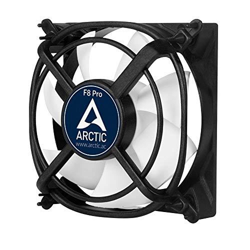 ARCTIC F8 Pro - 80 mm, Ventilateur Haute Performance, Ventilateur Boitier, Refroidisseur Silencieux pour Unité Centrale, Roulement à Fluide Dynamique, Support Anti-Vibration, 2000 RPM