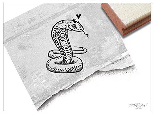 Stempel - Kinderstempel Schlange Kobra - Bildstempel Motivstempel Geschenk für Kinder - Schule Kita Einschulung Basteln Deko - von zAcheR-fineT