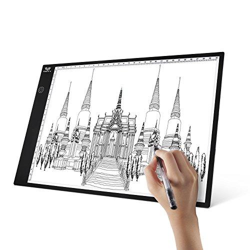 Tablette Lumineuse Dessin, SAVFY Tablette Lumineuse LED A4 Super Mince Tablette Dessin Avec Luminosité Réglable Pour Tatouage Esquisse Architecture Calligraphie et Artisanat