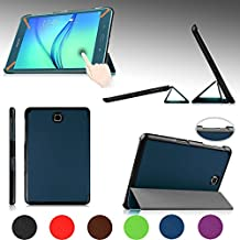 """e-PlanetPro Samsung Galaxy Tab A 8.0"""" Case - Luxury Ultra Slim Protective Shell, Shockproof, Drop Resistance, Anti-Dust Cover for Samsung Galaxy Tab A 8.0"""" (Wi-Fi, 3G/4G/LTE all models) with Sleep/Wake Up function! Dark BLUE"""