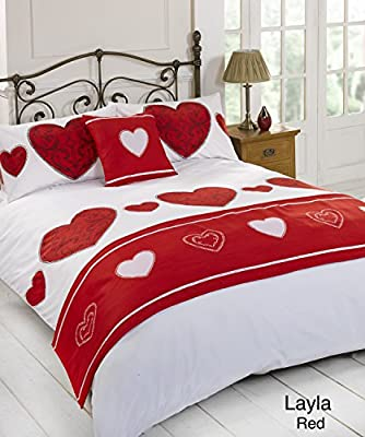 Layla Red Quilt Bed in a Bag set - Single Double King Size Super King Size